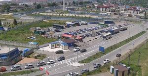 МАПП «Адлер», автомобильный въезд со стороны России
